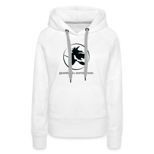T-shirt logo Gazette - Sweat-shirt à capuche Premium pour femmes
