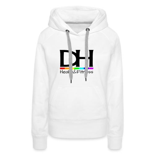 DH Health&Fitness Large logo - Women's Premium Hoodie
