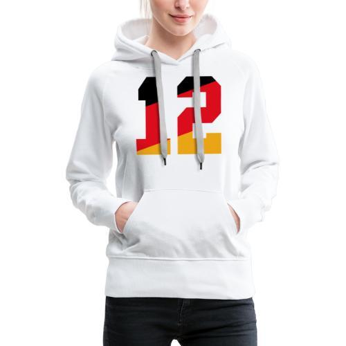 Fussball Nummern_12 - Frauen Premium Hoodie