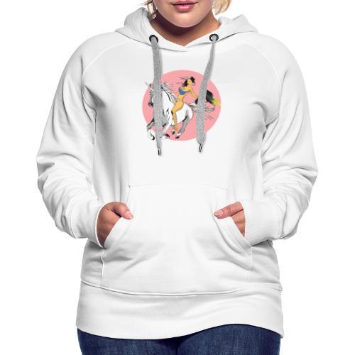 unicorn laser bikini girl - Women's Premium Hoodie