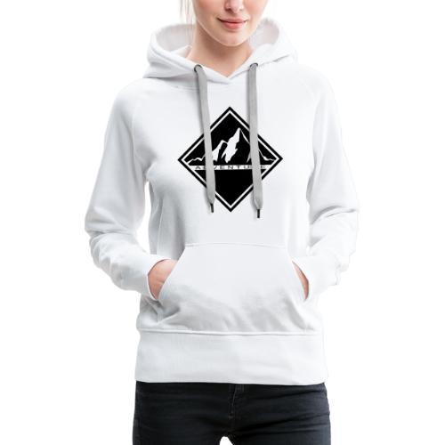 Adventure time - montagne - Sweat-shirt à capuche Premium pour femmes