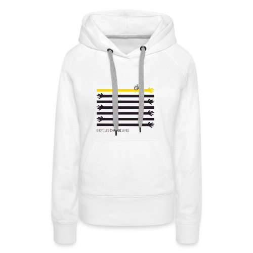 BCL Black Hands One Yellow - Women's Premium Hoodie