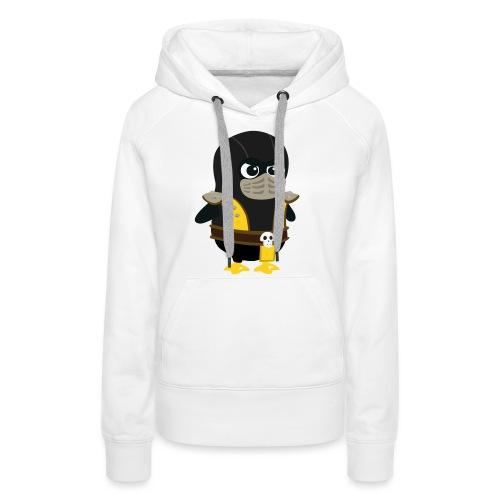 Pingouin Mortal Scorpion - Sweat-shirt à capuche Premium pour femmes