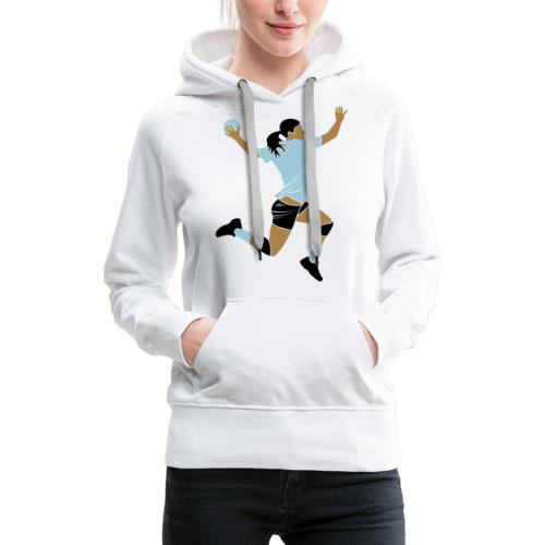handballeuse - Sweat-shirt à capuche Premium pour femmes