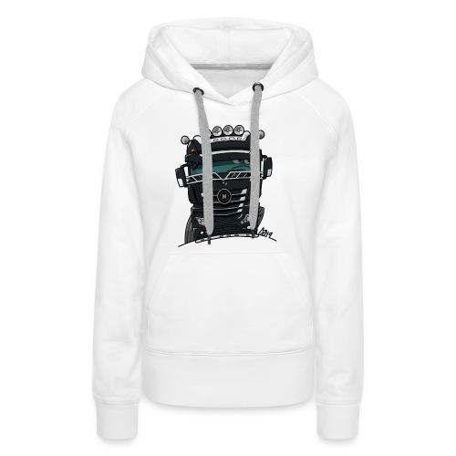 0807 M truck zwart - Vrouwen Premium hoodie