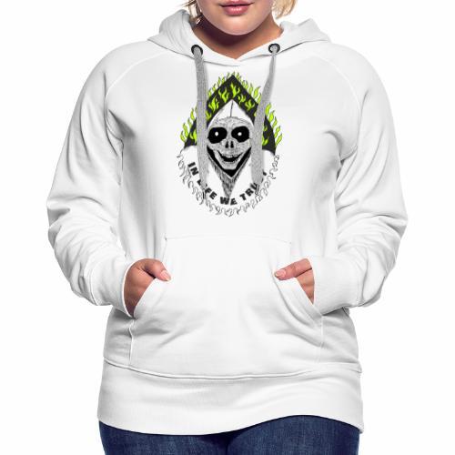 Image of death v2 with text IN LIFE WE TRUST - Sweat-shirt à capuche Premium pour femmes