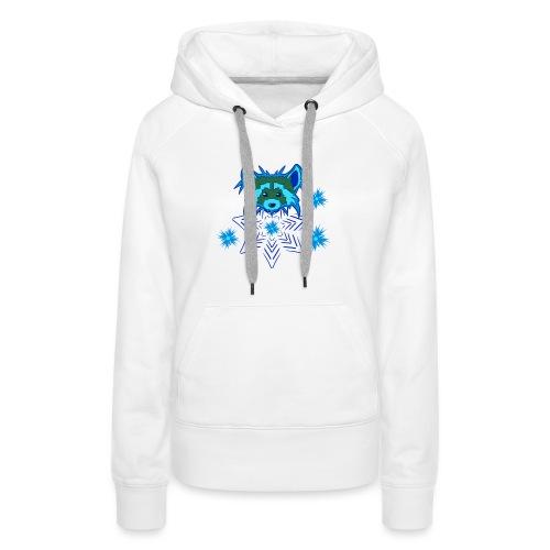 Snow Raccoon - Frauen Premium Hoodie