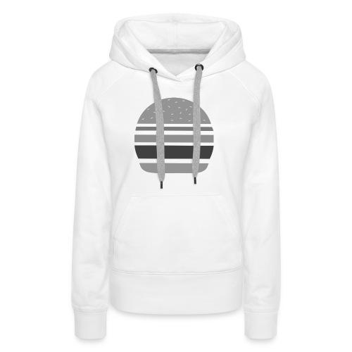 Logo_panhamburger_gris - Sweat-shirt à capuche Premium pour femmes