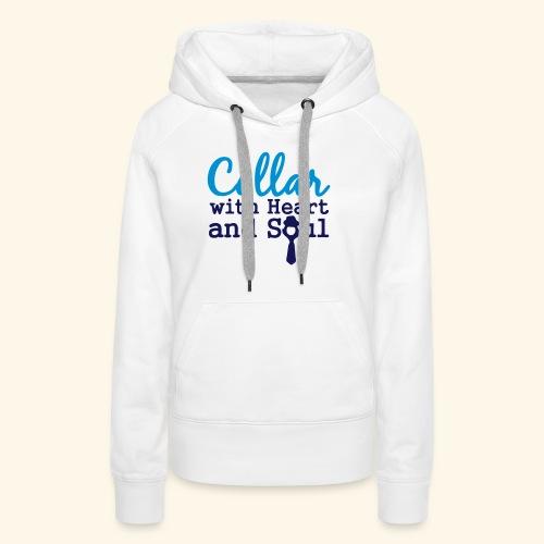 Collar with Heart Soul White Collar Shirts - Women's Premium Hoodie
