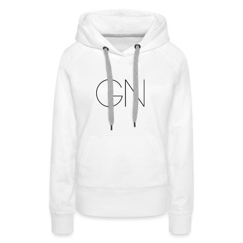 Långärmad tröja GN slim text - Premiumluvtröja dam