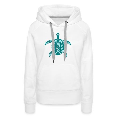 Schildkröte mit Muster 1 - Frauen Premium Hoodie