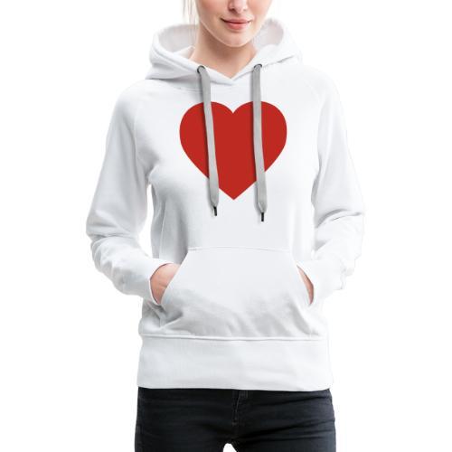 Herz Liebe - Frauen Premium Hoodie