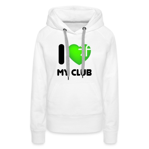 I LOVE BIG green png - Frauen Premium Hoodie