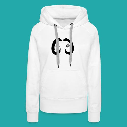 Crowd Control Controller Logo Black Large - Women's Premium Hoodie