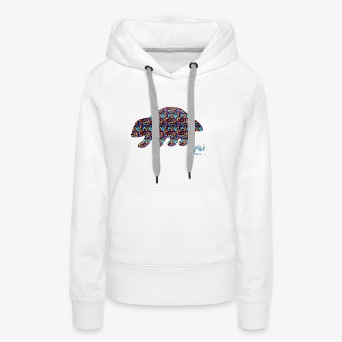 Ourson colore - Sweat-shirt à capuche Premium pour femmes