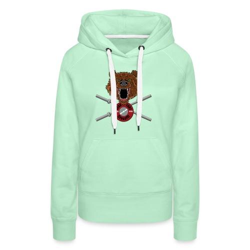 Bear Fury Crossfit - Sweat-shirt à capuche Premium pour femmes