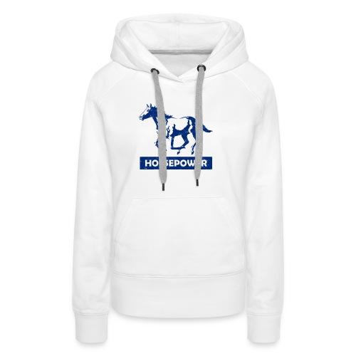 Galoppierendes Pferd Horsepower (Blau) - Frauen Premium Hoodie