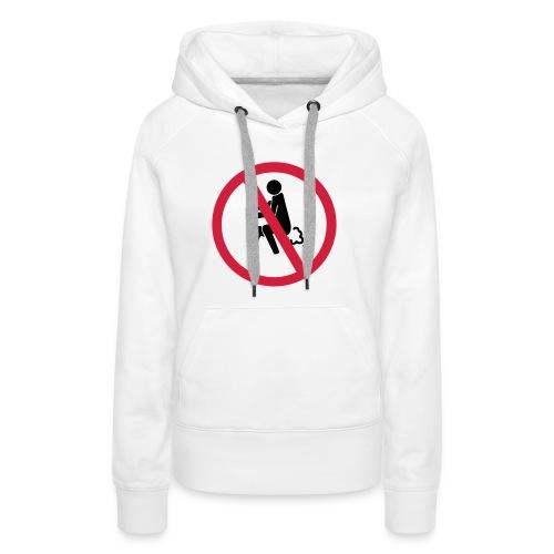 NO Farting Sign - Women's Premium Hoodie