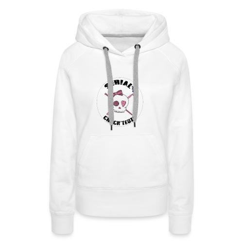 serial-rond-shirt-blanc10 - Sweat-shirt à capuche Premium pour femmes