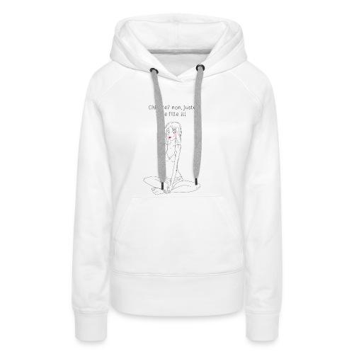 fille chiante - Sweat-shirt à capuche Premium pour femmes