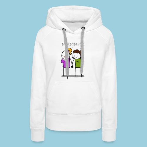 Homoplate blanc - Sweat-shirt à capuche Premium pour femmes