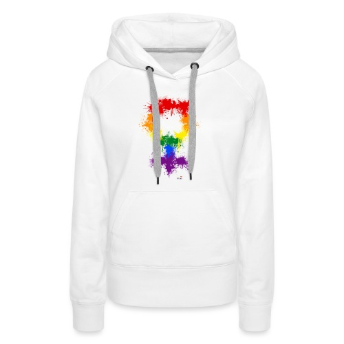 Raimbow XX symbole féminin - Sweat-shirt à capuche Premium pour femmes