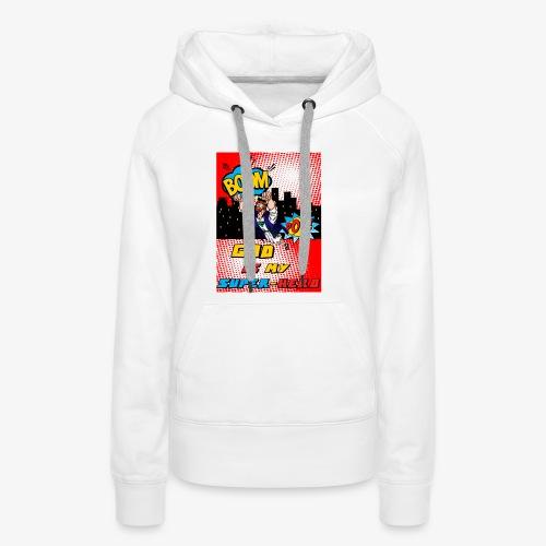 God Is my Super Hero - Sweat-shirt à capuche Premium pour femmes