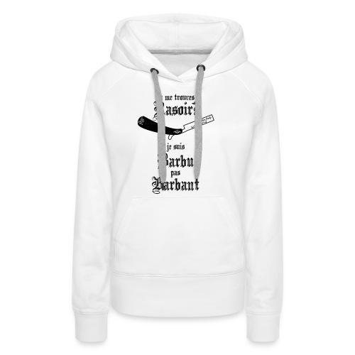 live freely rasoir - Sweat-shirt à capuche Premium pour femmes