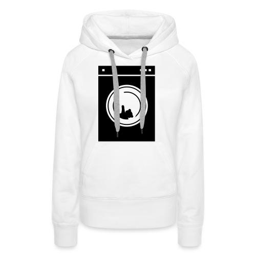 washing machine bear - Sweat-shirt à capuche Premium pour femmes