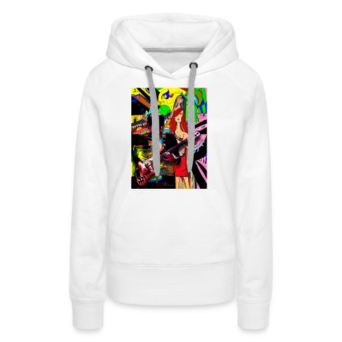 Rock On - Frauen Premium Hoodie