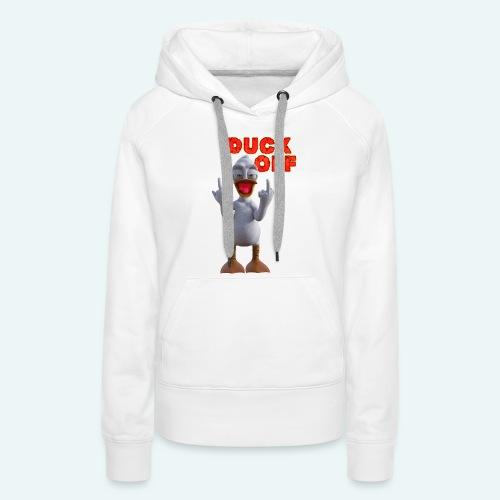 duck off - Vrouwen Premium hoodie