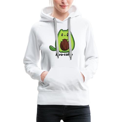 Gatto avocado - Avo - cat - o tutti i motivi - Felpa con cappuccio premium da donna