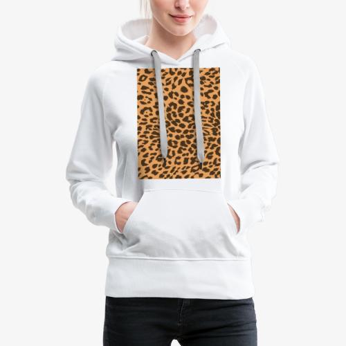 Leopardo - Felpa con cappuccio premium da donna