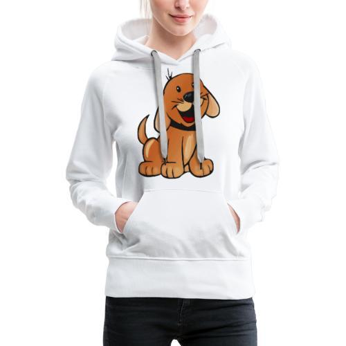 cartoon dog - Felpa con cappuccio premium da donna