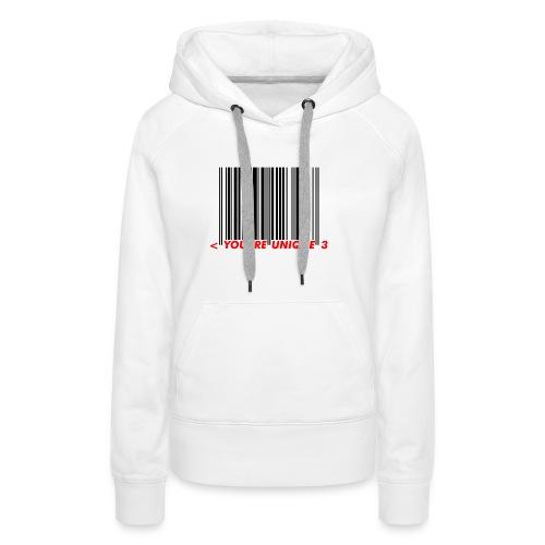 Codebar : You are unique - Sweat-shirt à capuche Premium pour femmes