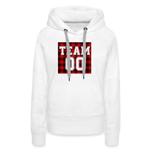 TEAM 00 T-shirt White - Vrouwen Premium hoodie