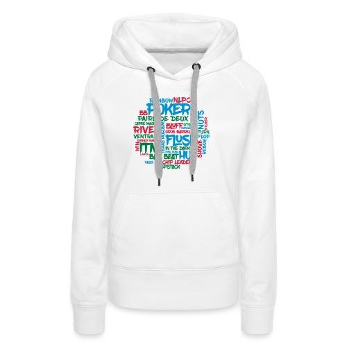 Poker - Sweat-shirt à capuche Premium pour femmes