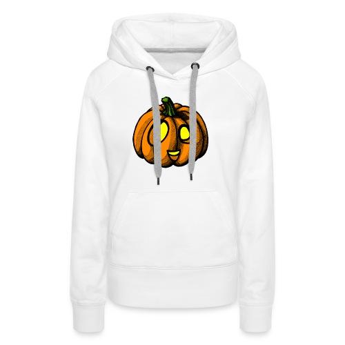 Pumpkin Halloween scribblesirii - Naisten premium-huppari