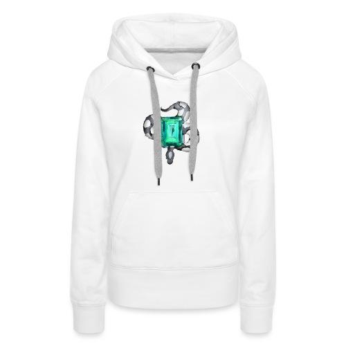 Emerald Snake - Sweat-shirt à capuche Premium pour femmes