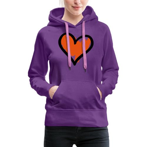 Heart Symbol Pixellamb - Frauen Premium Hoodie