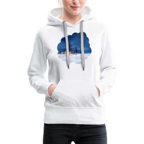 Poolnacht Lapland - Sweat-shirt à capuche Premium pour femmes