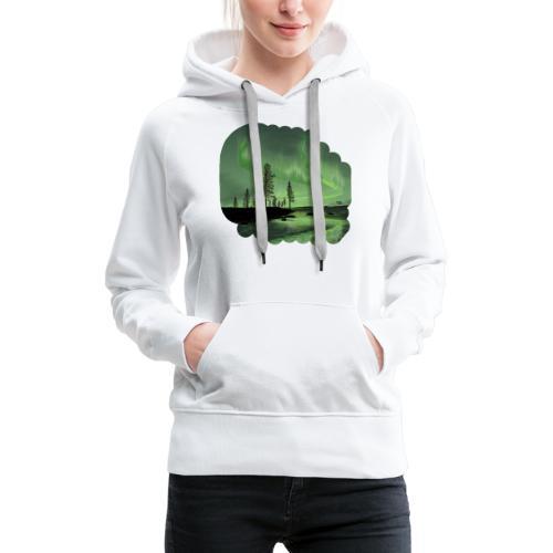 Noorderlicht reflectie - Sweat-shirt à capuche Premium pour femmes
