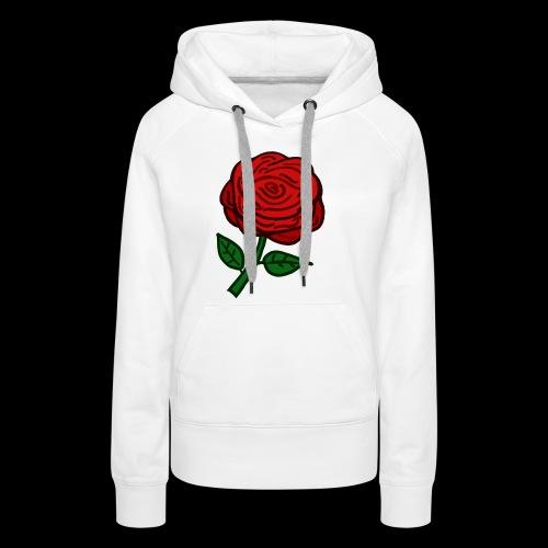 Rote Rose - Frauen Premium Hoodie