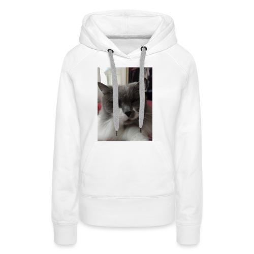 Moody cat - Women's Premium Hoodie