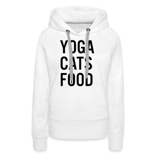 YOGA CATS FOOD LADIES ORGANIC T-SHIRT - Premiumluvtröja dam