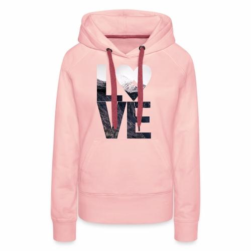 L.O.V.E - Mountains - Frauen Premium Hoodie