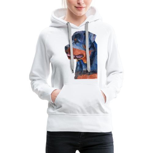 rottweiler - F - Dame Premium hættetrøje