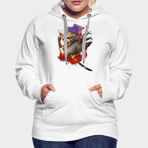 Fighting cards - Guerrier - Sweat-shirt à capuche Premium pour femmes