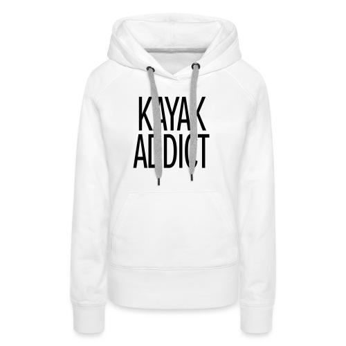 Kayak addict sweat-shirt Contraste - Sweat-shirt à capuche Premium pour femmes