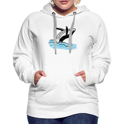 Wal - Whale - Ocean - Meer - Sea - Frauen Premium Hoodie